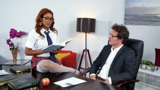 Jenna J Foxx seducing her boss Robby Echo in the office image