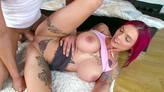 Monster boobed Anna Bell Peaks gets her dick fix image