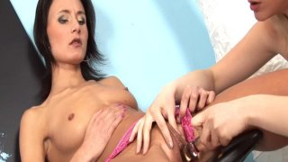 Sexy lesbians Tammy and Paola toying each other's cunts image