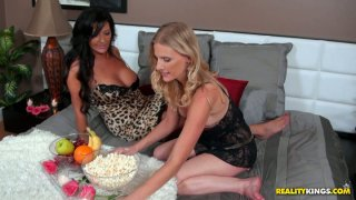 Image: Private party of sexy Sammy Brooks and her girlfreind turns into lesbian teasing