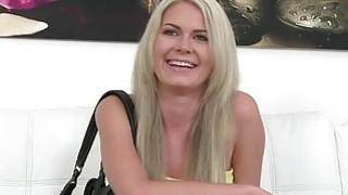 Agent bangs natural blonde babe in casting image