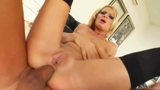 Slutty blonde Angie gets fucked in the ass image