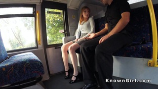 Image: Hairy pussy redhead teen banged on the bus