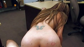 Big boobs Latina gets fucked by pawn guy image