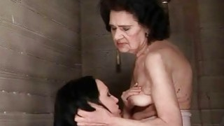 Young hooker loves granny in_public toilet image