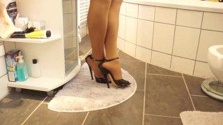Sexy Black_17cm High Heels Sandals walking Bathroom image