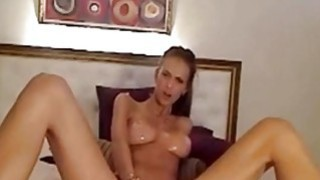 Long legs and sexy body touching her pussy and ass on cam image