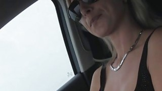 Alena and dude bangs at the backseat of the car where he pounded her and cums image