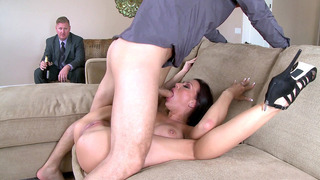 Rachel Starr making her husband to watch her get face-fucked and licked image