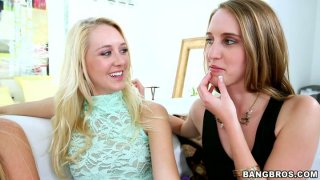 Image: Awesome cuties licking each other. Cadence Lux and her girlfriends