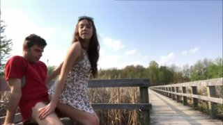 Teens caught having sex outdoors in park ⁃ Favorite desi sex park outdoor video image