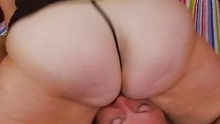 Bbw Sexy Girl Rides On Poor Boys Face 1 image