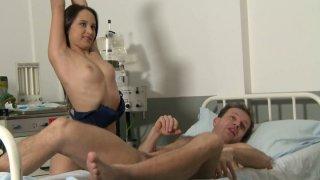 Sexed nurse Alesya behind the scene video image