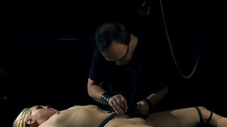 Image: Hogtied blonde Russian mouth drilled