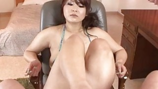 Big tits milf Airi Ai wants cock in each of her holes image
