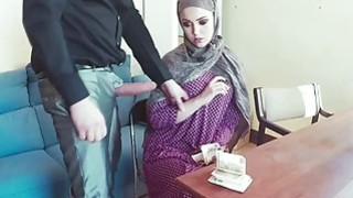 Sexy arab babe got fucked for the money image