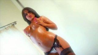 Divine brunette beauty Eva Angelina gives deepthroat blowjob image
