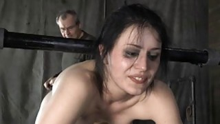 Tied up cutie acquires tongue and facial torture image