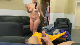 Kimmy Kush gives an okay blowjob and wraps her breasts around the shaft image