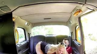 Huge tits cab driver fucks student in public image
