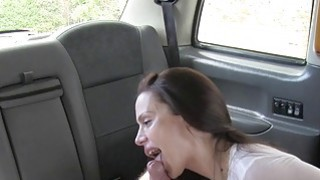 Busty gags and bangs in fake taxi image