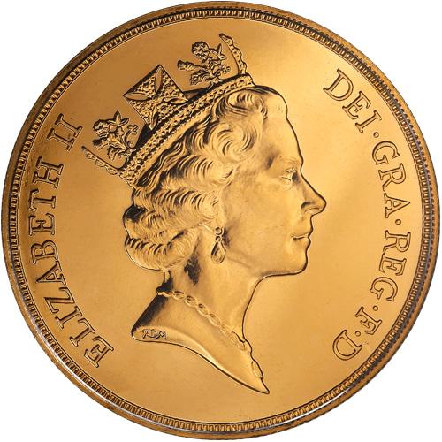 Buy 5 Pound British Gold Soveriegns Online - Silver.com