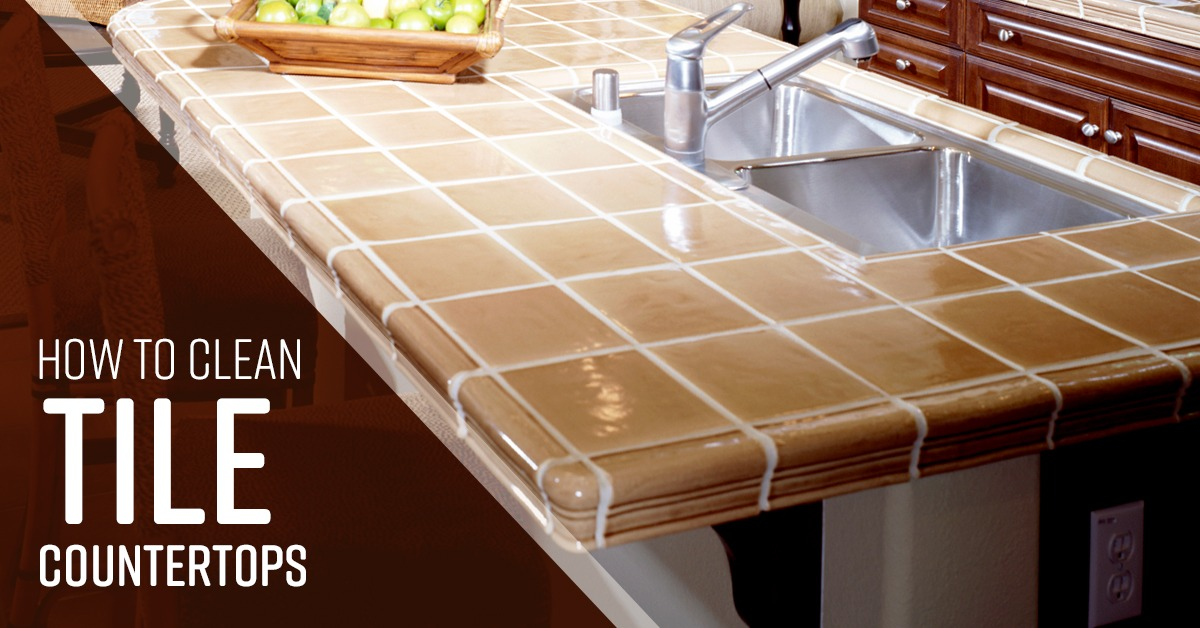how to clean tile countertops simple
