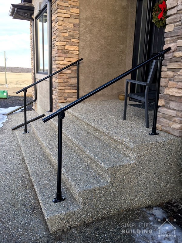 20 Beautiful Railings Built With Pipe Simplified Building   Pipe Handrails For Steps   Simple Pipe   Kee Klamp   Contemporary Wood   House   Stair Outdoor Decatur