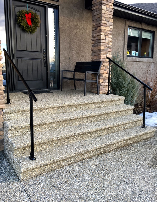 20 Beautiful Railings Built With Pipe Simplified Building   Safety Rails For Steps   Step Handrail   Steel Stair   Exterior Handrail   Wall Mounted   Wrought Iron
