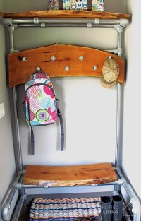 DIY Entryway Bench with Coat Rack | Simplified Building