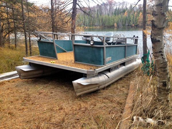 pontoon boat restoration and railing