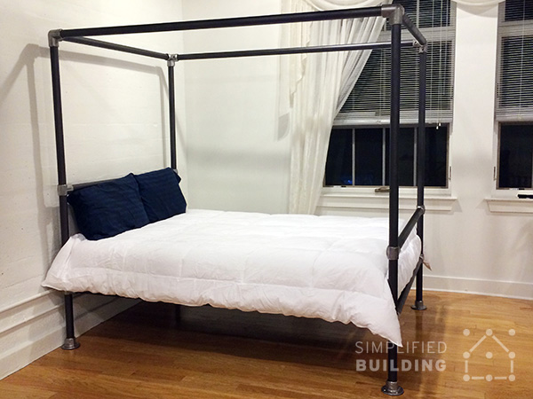 Diy Aluminum Bed Frame 47 Diy Bed Frame Ideas Built With Pipe | Simplified Building