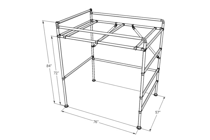 DIY Full-Size Loft Bed for Adults (with Plans to Build