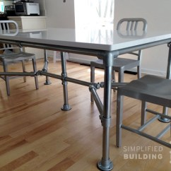 Diy Kitchen Tables Kitchens Painted Orange 51 Table Ideas Built With Pipe Simplified Building Quartz Top