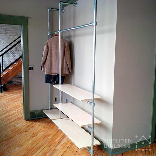 diy modern coat rack with floating