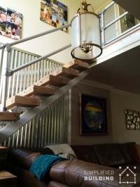 Modern Railing for a Rustic Home Stairway Remodel ...