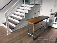 DIY Rolling Kitchen Island with Live Edge Table Top ...