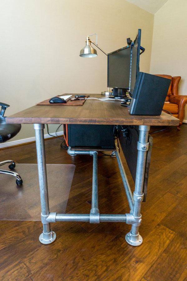 Wood Paneled Industrial Pipe Desk Desk Week