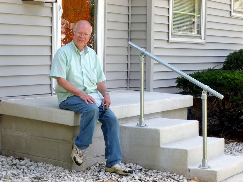5 Diy Metal Stair Railing Examples | Aluminum Handrails For Steps