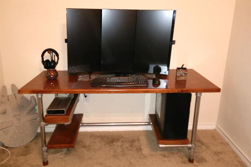 Diy L Shaped Gaming Desk