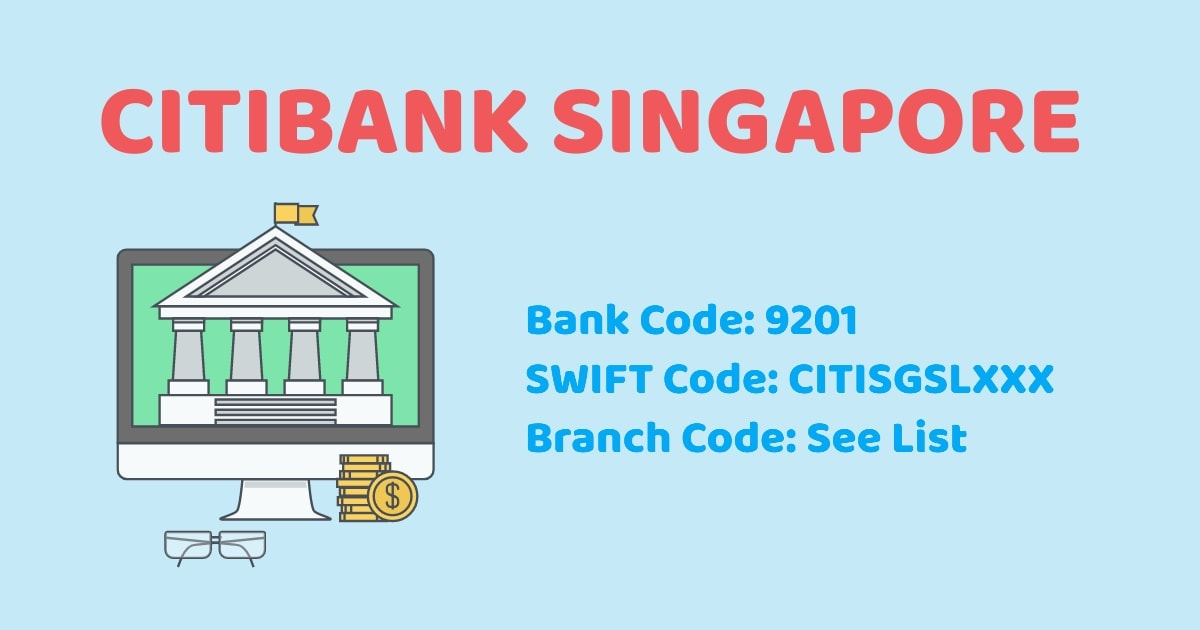 Dbs Bank Code : Citibank Sg Branch Code Bank Code Swift Code Singapore Bank