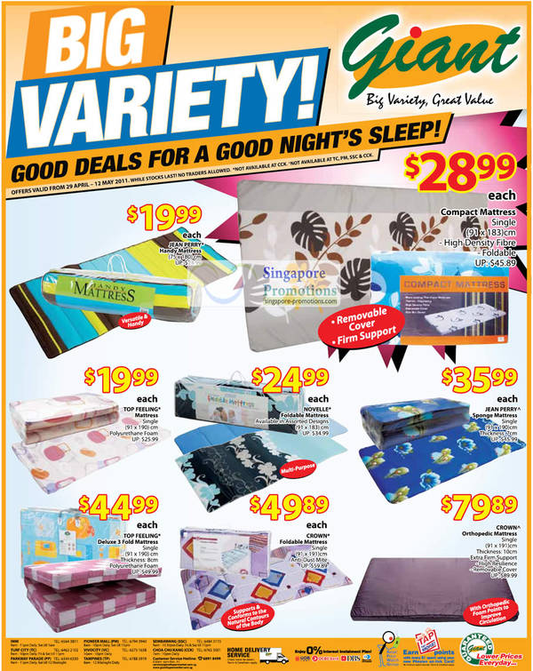 Giant Hypermarket Mother S Day Gift Ideas Mattress 29 Apr 12 May 2017