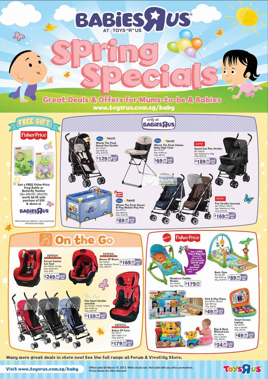 """high chair toys r us swing holder """"r"""" babies spring specials 16 feb – 19 mar 2012"""