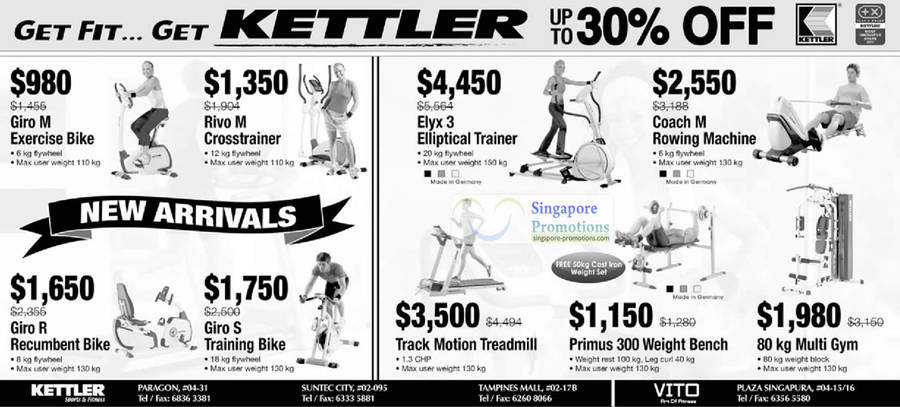 Kettler Up To 30% Off Exercise Equipment 18 May 2012