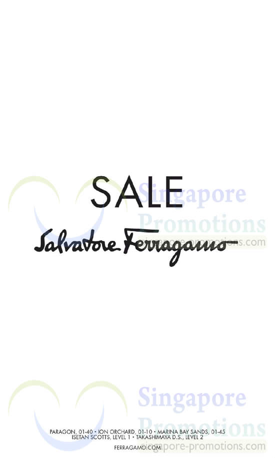 Salvatore Ferragamo SALE 28 May 2014