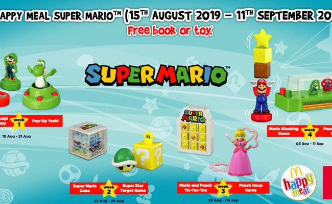 Mcdonald S Latest Happy Meal Toys Features Super Mario