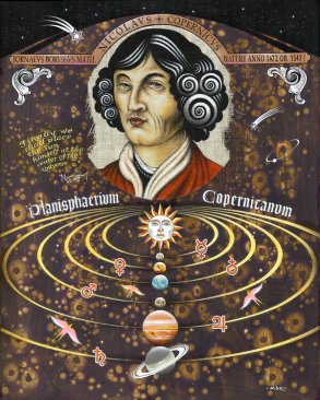 Nicolaus Copernicus by Alexander Mak (2018) : Painting Acrylic on ...