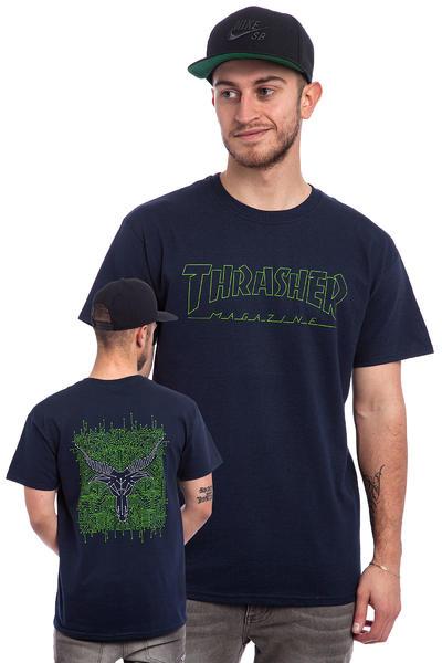 Home Thrasher Circuit Goat Navy Tshirt