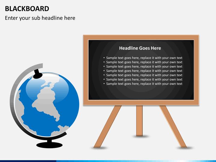 Blackboard Powerpoint Template Sketchbubble