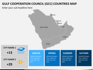 Gulf Cooperation Council (GCC) Map PowerPoint | SketchBubble